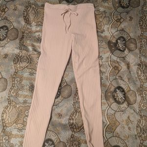 Peach textured pants